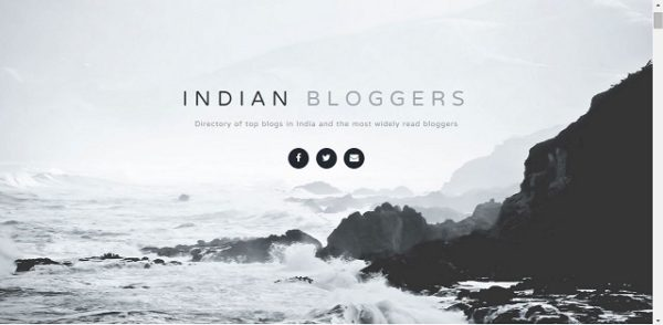 Indian blogger list
