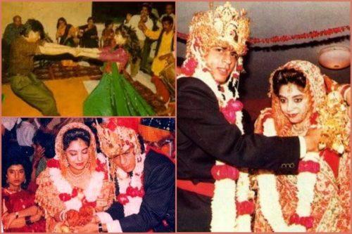 shahrukh gauri marriage images