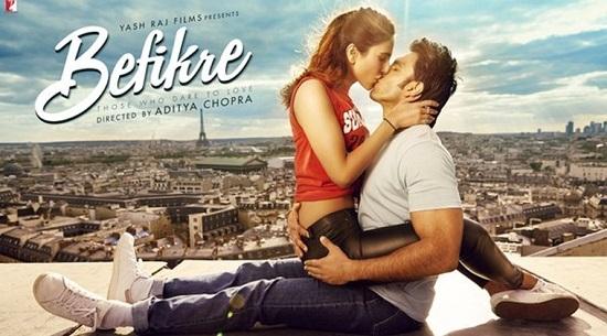 Ranveer Singh Vani Kapoor kiss image befikre