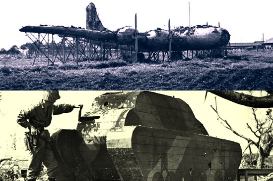 Fake Japanese aeroplanes