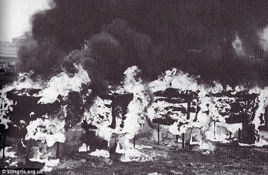 British Army Starfish fires