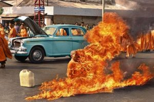 The burning Monk thich quang duc