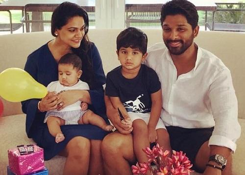 allu arjun wife and kids