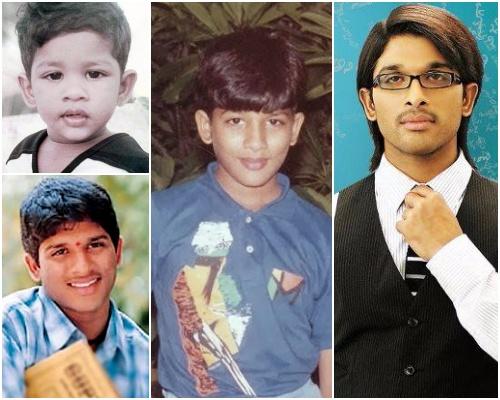 allu arjun childhood young photo